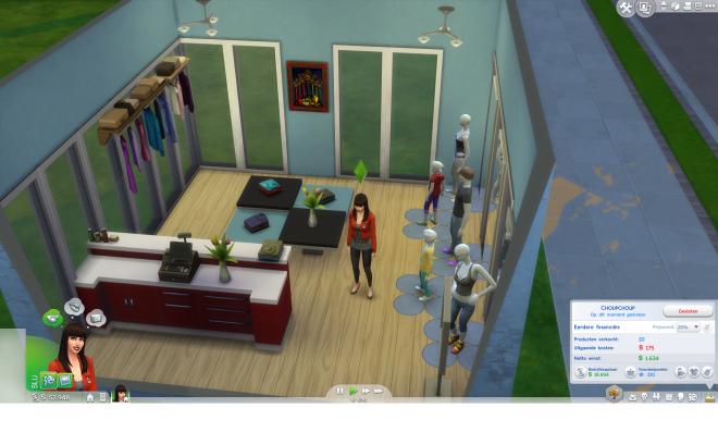 Sims 4 aan het werk 1