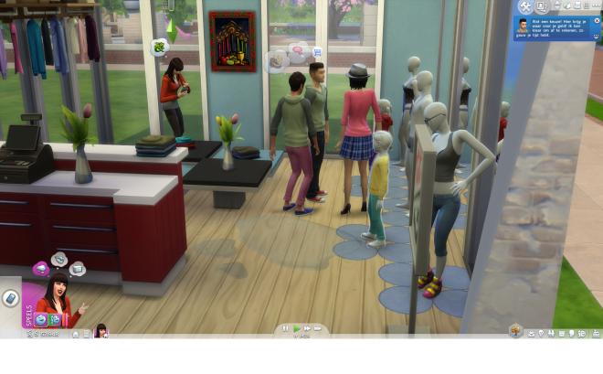 Sims aan het werk 4